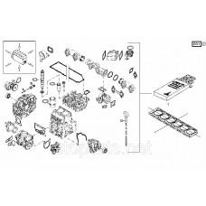 Набор прокладок двигателя Deutz (Дойц) Номер :02931818; 0293-1818 (Набор без прокладки головки блока)