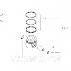 Поршень Deutz No:04910691 двигателя TCD2013;DEUTZ TCD2013 Piston OEM NO: 04905731/ 04905091/ 04910691