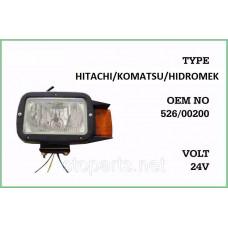 Фара Hidromek OE No : 526/00210;  526/00200
